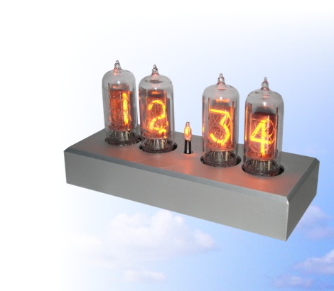 Nixie clock with clear tubes