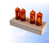Thumbnail nixie clock with red tubes